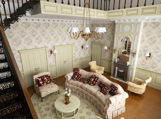 Фото дизайну інтер'єру кімнати у стилі Прованс.