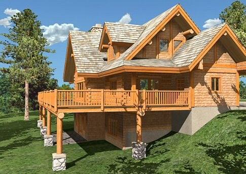 будинки з дерева - фото