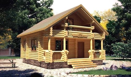 будинки з дерева на фото