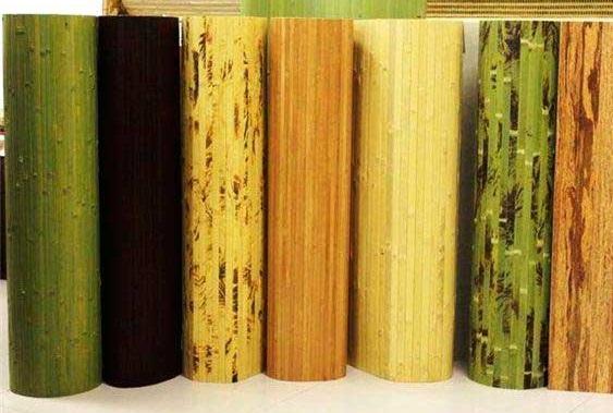 Бамбукові шпалери - колірні рішення.